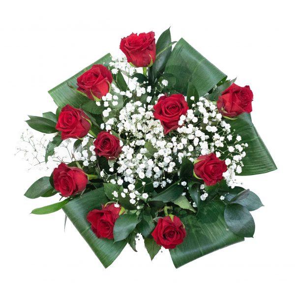 bos bloemen met rood en witte kleuren
