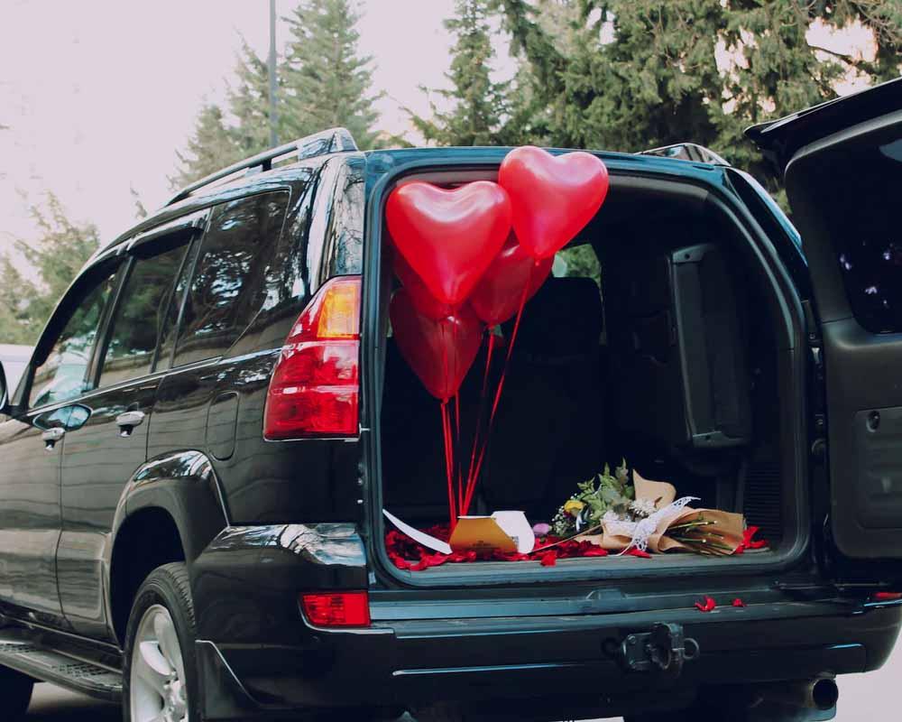 bloemen vervoeren